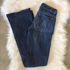 "7FAM ""A"" Pocket Bootcut Jeans"