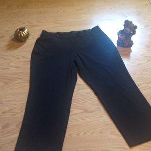 Ladies black pants by Sag Harbor in size 18 short