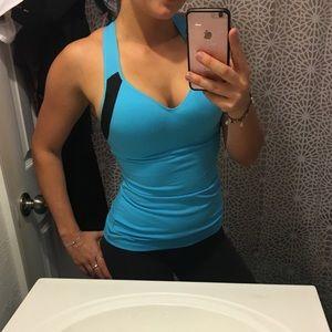Victoria's Secret Sport Blue Tank w/ built in bra