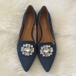 Jeweled Loafer Flats