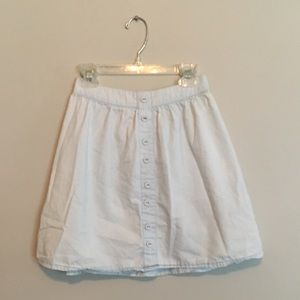 Light-blue denim buttoned skirt