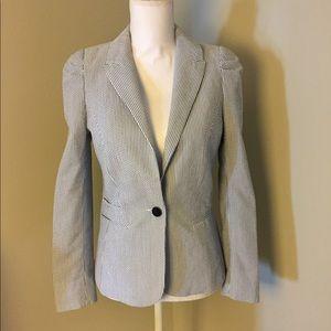 H&M Pinstripes Blue/White Blazer Jacket Size 8