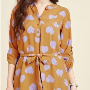 Day for night tunic in golden rod hearts
