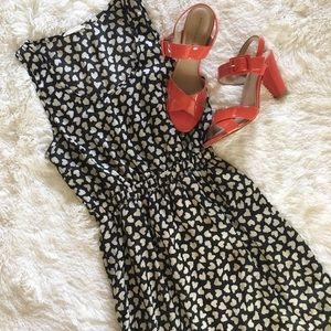 lush • high low heart black and white dress