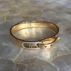 Michael Kors Cityscape Pave Buckle Bangle Bracelet