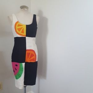 Vintage Deborah Laws Fruit Dress