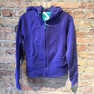 Lululemon purple scuba hoodie, sz 6, 54256