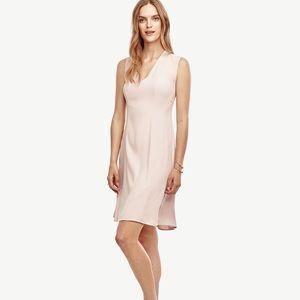 Ann Taylor V-neck flare dress.