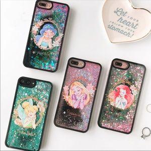 Iphone 7 plus/7 Disney princess glitter case