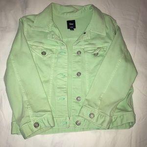 Gap Mint green jean jacket