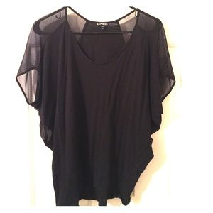 Loose Comfy Top with Sheer sleeves