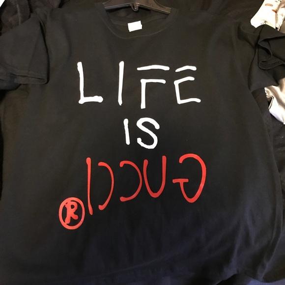 f7ed08b1 Gucci Tops | Life Is T Shirt Sz W Large | Poshmark