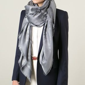 Louis Vuitton Monogram Scarf in Charcoal gray