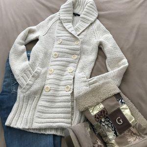 GAP Chunky Lambswool Long Cardigan Jacket NWOT XS