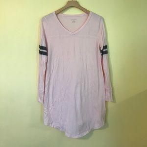 Xhileration Pink Long Sleeve Nightgown