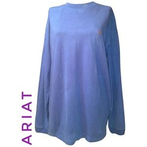 Ariat Sueded Crew neck Pullover LS NWT XL - XXL