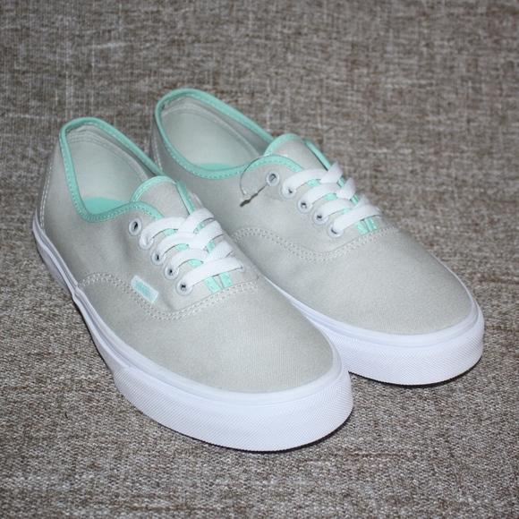 Vans Shoes   New Vans Gray Mint Green