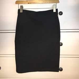 NWT Forever 21 Charcoal Grey Pencil Skirt
