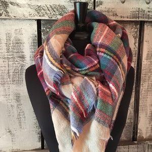 Zara Tartan Blanket Scarf 56x56