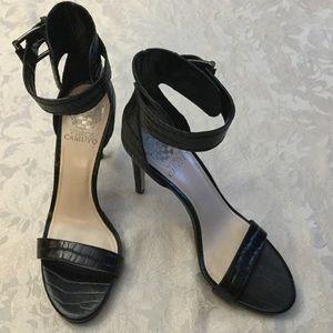 Vince Camuto Black Ankle Strap Heels