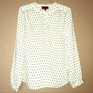 Cynthia Rowley collarless blouse