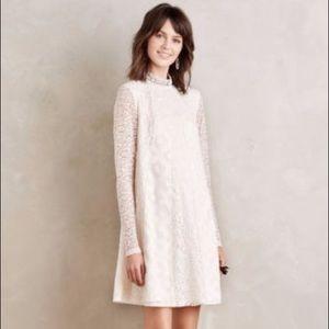 Ivory Lace Enid Swing Dress (Anthropologie)-SZ M