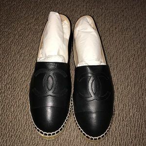 New Chanel Black Espadrilles size 41
