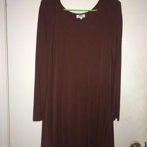 Brown piko dress