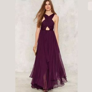 Nasty Gal Purple Maxi Dress D2 /3