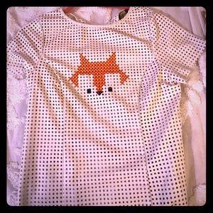 Leather anthropologie fox shirt