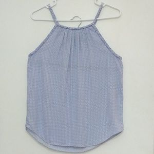 GAP blue sleeveless top with braided trim