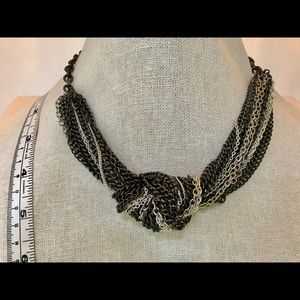 Express Black and Silver Statement Necklace