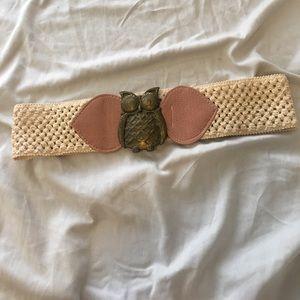 Super cute owl belt