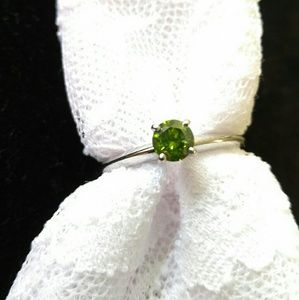Genuine .44ct Green Diamond Solitaire: About 1/2ct