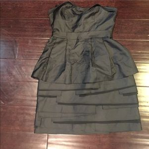 Bcbg nwt sz 8 black structured peplum dress
