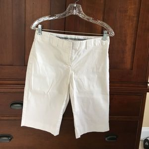 Express work shorts. Editor fit. White. Size 4