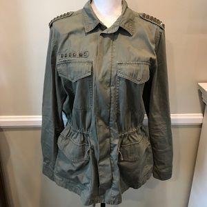 Mudd Army Green studded Utility Jacket XL