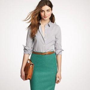 J. Crew No. 2 Blue/Green Pencil Skirt!