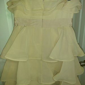 Peach formal dress