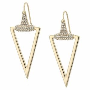 Rebecca Minkoff Pave Triangle Dangling Earrings