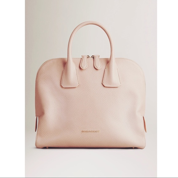 02b66445dd23 Burberry Handbags - AUTHENTIC Nude Burberry Grainy Leather Bowling Bag