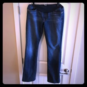 7 For All Mankind maternity bootcut jeans - 31