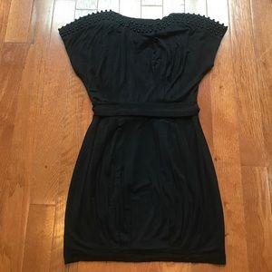 Black Dress Twelve by Twelve Small Bubble Hem