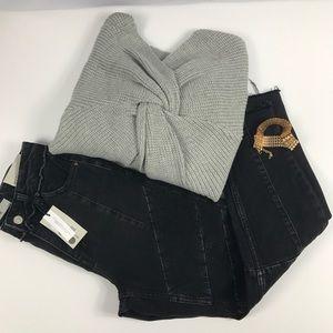TOPSHOP Moto MOM High Waisted Black Jean