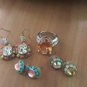Juicy Couture  earrings and misc ring