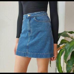NWT America Apparel Denim A-Line Skirt