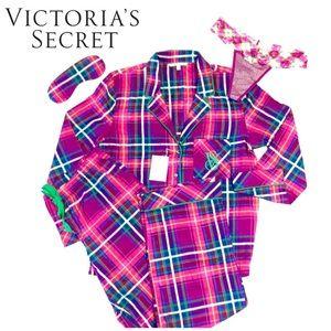 NWT Victoria's Secret Lightweight Plaid Pajama Set