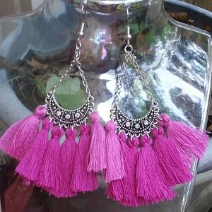 HOT back in stock! Super dangle tassel earrings!!!