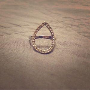 Jewelry - Open teardrop ring