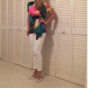 Trina Turk Multicolor Silk Blouse